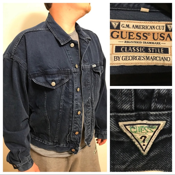 Guess By Marciano Jackets Coats Vintage 80s Mens Guess Blue Jean